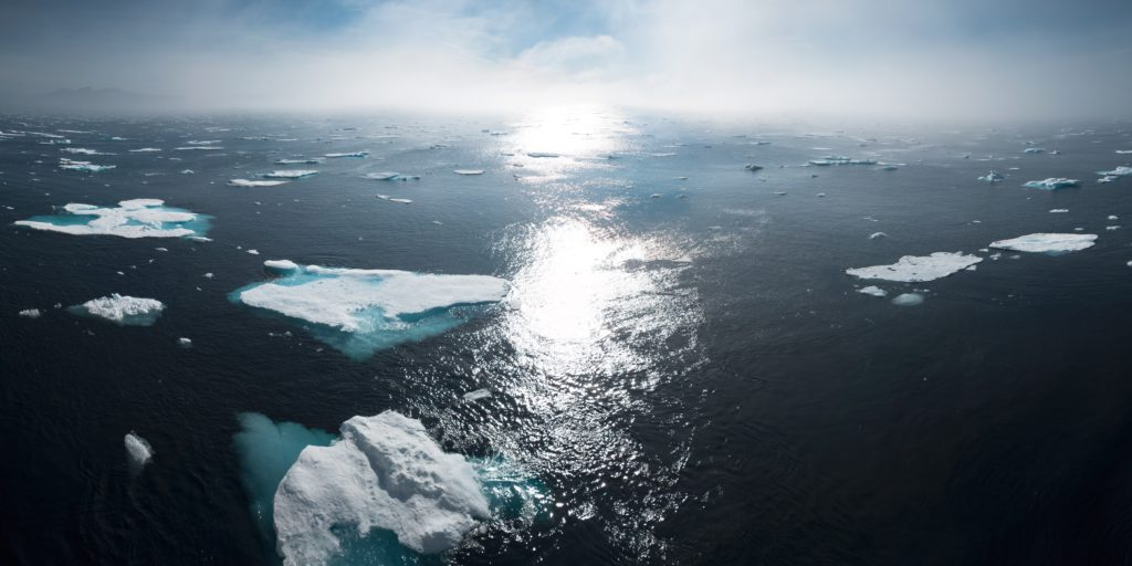 Ice bergs and glaciers